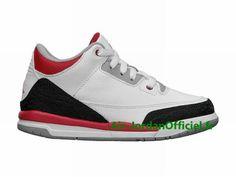 best sneakers d3374 0c24a Air Jordan 3 III Retro PS - Chaussures Jordan 2013 Pour Petit Enfant Blanc Rouge Noir  429487-120
