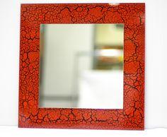 Интерьерное арт зеркало ручной работы с использованием технологии Glass Paint