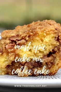 Cake Mix Desserts, Cake Mix Recipes, Dessert Recipes, Dessert Ideas, Yellow Cake Recipes, Bread Recipes, Coffee Recipes, Cake Mix Coffee Cake, Apple Coffee Cakes