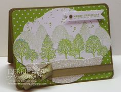 Stampin' Up! Lovely As A Tree with Dazzling Diamonds by Debbie Henderson, Debbie's Designs