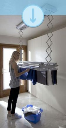 50 Drying Room Design Ideas That You Can Try In Your Home Small Laundry Room Ideas are a lot of fun if you find the right ones and use them adequately. With the right approach and some nifty ideas you can take things to the next level. Small Laundry Rooms, Laundry Closet, Laundry Room Organization, Laundry Room Design, Laundry In Bathroom, Design Kitchen, Basement Laundry, Ironing Station, Drying Room