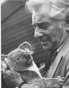 Lenny Down Under! Leonard Bernstein holding a koala bear. Two of my favorites in one picture.