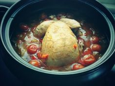 Spanish Roast Chicken With Oregano and Roast Tomatoes slow cooked perfection.