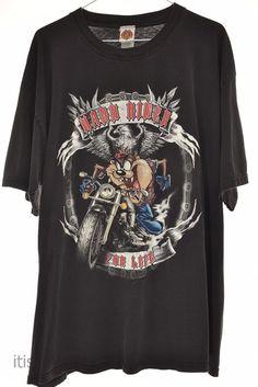 Vintage Tasmanian Devil Taz Motorcycle Hard Rider Looney Tunes T Shirt XL    Clothing, Shoes & Accessories, Men's Clothing, T-Shirts   eBay!