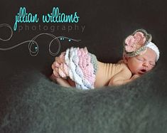 Newborn Baby Photo Prop - Crochet Diaper Cover Pattern - Hat Pattern - Soaker Pattern - Tutu - Ballet - Crochet Patterns by Deborah O'Leary Bandeau Crochet, Crochet Headband Pattern, Crochet Baby Hats, Crochet Cape, Kids Crochet, Newborn Crochet, Easy Crochet, Free Crochet, Diaper Cover Pattern