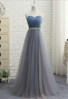 Buy Cute A Line Sweetheart Tulle Blue Strapless Beads Prom Dress, Bridesmaid Dresses uk in uk.Shop our beautiful collection of unique and convertible long Prom dresses from PromDress.uk,offers long bridesmaid dresses for women in the UK. Pretty Prom Dresses, A Line Prom Dresses, Wedding Party Dresses, Ball Dresses, Cute Dresses, Beautiful Dresses, Evening Dresses, Elegant Dresses, Sexy Dresses