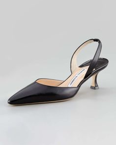 d7c3b56822571 Love the Manolo Blahnik Kidskin Low-Heel Halter · Heeled BootsShoe  BootsBlack ...