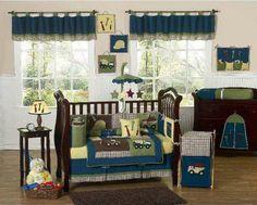 Construction Zone 9 pc Crib Bedding Set by Sweet Jojo Designs $179.99 #cribbedding #babybedding #cribset