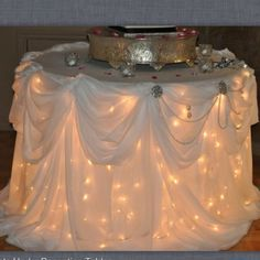 Lights under the cake table