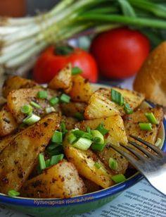 Очень вкусный, ароматный и нежный картофель получается по этому рецепту.        Нам понадобится:    1-1,2 кг картофеля   1 ч.л. тимьяна (kekik по-турецки)   1 ч.л. сумака ( или барбари…