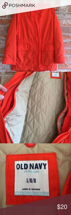 """Fully Lined Hooded Jacket By Old Navy This jacket is in EUC. It is really soft and warm. The lining is detachable for easy washing. It measures 22"""" underarm to underarm and is 29"""" long. Old Navy Jackets & Coats"""