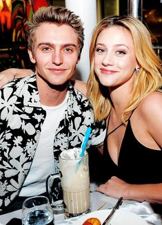 Hart Denton supports friend Lili reinhart at her Ocean Diive Magazine Cover Party in Las Vevas (February 10)