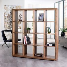 Click to zoom - Porto sixteen cube storage walnut