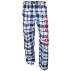 Boston Red Sox Women's Navy Blue Crossroad Flannel Pants