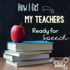 There is a lot to do to when school starts up again. Don't forget to get your teachers ready too!  This post shares how I prepare my teachers for their new speech students.