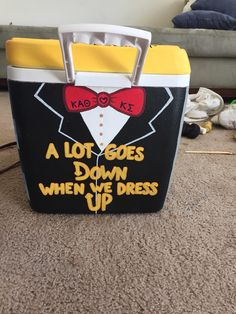 A lot goes down when we dress up painted fraternity sorority formal cooler