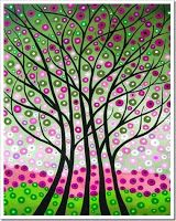 These trees are gorgeous!!! Getting My Art Wings Back: Grade 6 Patterned Tree Designs