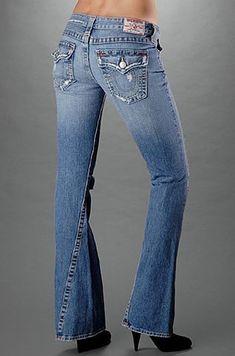 Still love my vintage Joey's! Jeans Outlet, True Religion Jeans, Girls Jeans, Flare Jeans, Bell Bottom Jeans, Style Me, Vintage Ladies, Dressing, Denim
