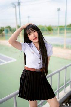 High School Girls, Skater Skirt, Asian, Skirts, Skater Skirts, Skirt, Gowns, Skirt Outfits