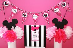 Tissue paper puffs w silhouette for centerpiece  Birthday party decoration and banner ideas