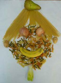 portraits avec des aliments à la manière d'Arcimboldo Giuseppe Arcimboldo, Art Plastique, Oeuvre D'art, Portraits, Spring, Food, Early Education, Flowers, Hipster Stuff