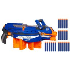 holy moly- laying down suppressing nerf fire.Nerf N-Strike Elite Hail-Fire Blaster Toys R Us, Kids Toys, Arma Nerf, Pistola Nerf, Cool Nerf Guns, Nerf Toys, Nerf War, Amazon Gifts, Outdoor Games