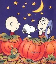 Charlie Brown, Snoopy and Linus With Blanket in Pumpkin Patch on Halloween Waiting For The Great Pumpkin Charlie Brown Costume, Charlie Brown Halloween, Great Pumpkin Charlie Brown, It's The Great Pumpkin, Charlie Brown Thanksgiving, Snoopy Halloween, Holidays Halloween, Vintage Halloween, Halloween Fun