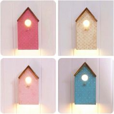 Lámparas de madera http://www.mamidecora.com/lamparas%20_infantiles_casitas.html