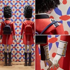 """TORY BURCH, Westfield Shopping Centre, London, UK, """"Queen's Guards (Made of paper), stand guard"""", photo by Retail Focus, pinned by Ton van der Veer"""