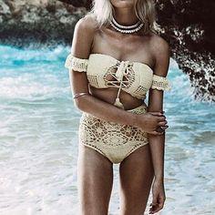 Corsets – Crochet Bikini Beachwear. – a unique product by takkabeachwear on DaWanda