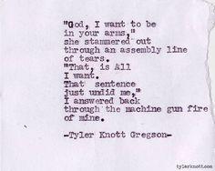 Typewriter Series #201 by Tyler Knott Gregson