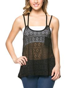 Black Sheer Diamond-Lace Hi-Low Tank  These are some really trendy, cute and stylish womens fashion finds.  These are popular and super adorable not to mention charming and attention grabbing!  Easily some of the top fashion finds for women.