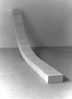 "Nico Kok; Sculpture, ""Fifty sandline bricks and a wooden plank 3"""