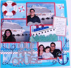Cruise layout using Life Is A Beach Cricut by 365 Days Of Cricut