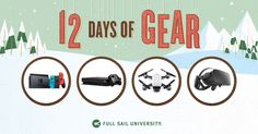 I entered to win a Nintendo Switch, Xbox One X, DJI Spark, and more in Full Sail's #12DaysofGear Giveaway. Enter here: