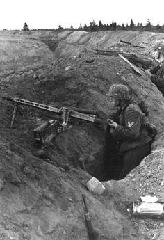 "kruegerwaffen: "" Hauptkampflinie or fighting positions of Landser(german soldier) """