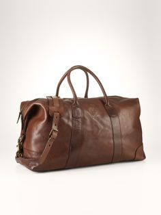 Leather Duffel Bag - Polo Ralph Lauren Travel Bags - RalphLauren.com Men s  Leather Bags 0f20726825