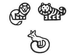 lion, fox, tiger logo