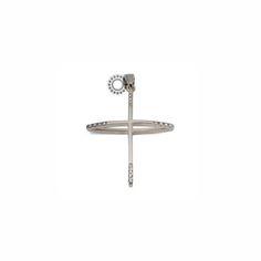 Λεπτός και μοντέρνος βαπτιστικός σταυρός από χρυσό Κ18 με σειρέ από διαμάντια στα άκρα, σε υπερυψωμένη καμπύλη  | ΤΣΑΛΔΑΡΗΣ Κόσμημα στο Χαλάνδρι από το 1958 #διαμάντια #βαπτιστικός #σταυρός #κορίτσι