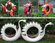 Diy Discover Best 12 Arara azul feita com pneu de kart reciclagem pneus Tire recycling reciclaje llantas SkillOfKing. Recycled Garden Art, Garden Crafts, Recycled Crafts, Garden Projects, Diy Projects, Diy Crafts, Fabric Crafts, Tyres Recycle, Recycled Tires