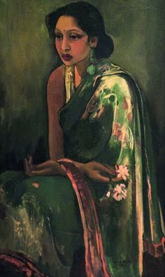 """Sumair by Amrita Sher-Gil, an eminent Hungarian-Indian painter. She has been called """"one of the greatest avant-garde women artists of the early century"""" and a """"pioneer"""" in modern Indian art. Modern Indian Art, Modern Art, Contemporary Art, Indian Art Traditional, Amrita Sher Gil, Art Indien, Indian Artist, Indian Paintings, Asian Art"""