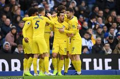 An Eden Hazard-inspired Blues put recent away league defeats behind us with a Sunday lunchtime victory in Sussex. Chelsea Football, Chelsea Fc, Brighton, Blues, Chelsea F.c., Chelsea