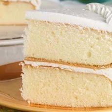 HEAVENLY WHITE CAKE RECIPE:     23/4 cups cake flour (sifted)     4 tsps baking powder     3/4 tsp salt     4 egg whites     11/2 cups white sugar     3/4 cup butter     1 cup milk     1 tsp vanilla extract     1 tsp almond extract