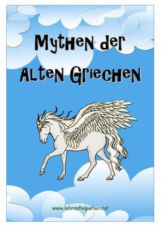 Zehn griechische Mythen in einfacher Sprache und Aufträge dazu.