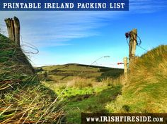 A GREAT list of what to pack for Ireland - with a version you can print out.