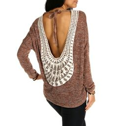 Rust Crochet Trim Back Dolman Top from Windsor. Shop more products from Windsor on Wanelo. Garment District, Dolman Top, Fashion Sites, Front Tie Top, Crochet Trim, Long Sleeve Bodysuit, Long Sleeve Crop Top, Passion For Fashion, Casual Chic