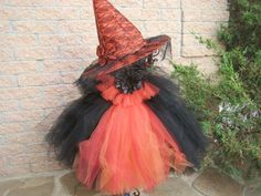 FIRE AND BLACK. Witch Costume.  Tutu Dress.  by ElsaSieron on Etsy