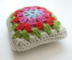 Granny Square Pincushion - I don't know why I never thought about this!