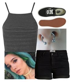 """""""Halsey"""" by animeandbandstuff ❤ liked on Polyvore featuring Topshop, Pieces and Vans"""