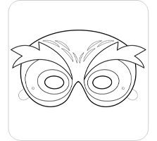 Owl Mask and Template to Color | Owl mask, Free printable and Masking